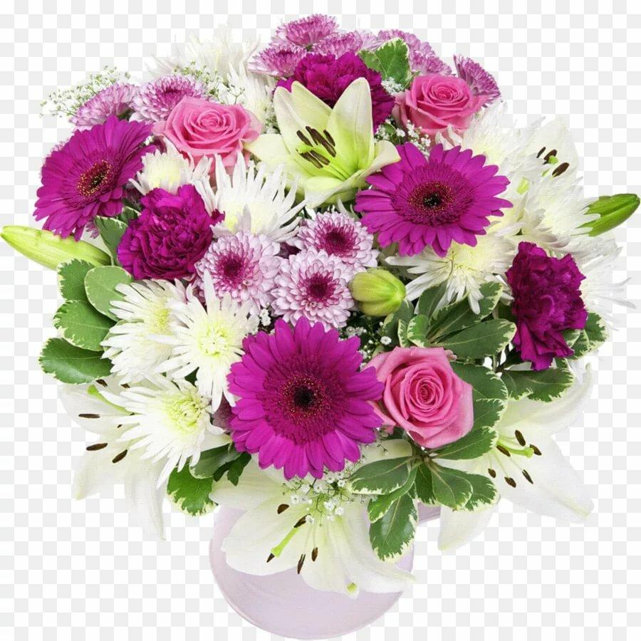 Поздравление женщины букет цветов