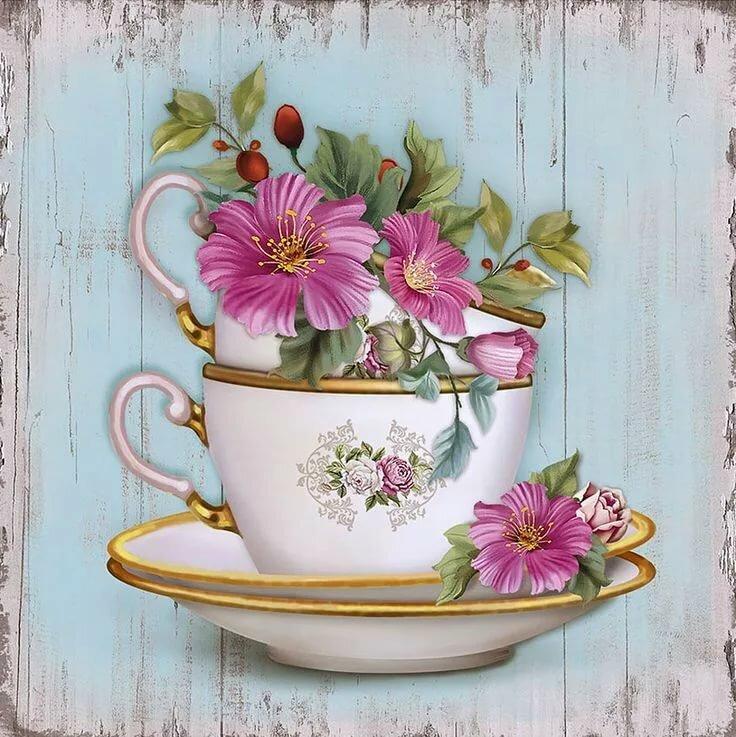 Рисованные картинки с цветами и надписями, крестнику месяца