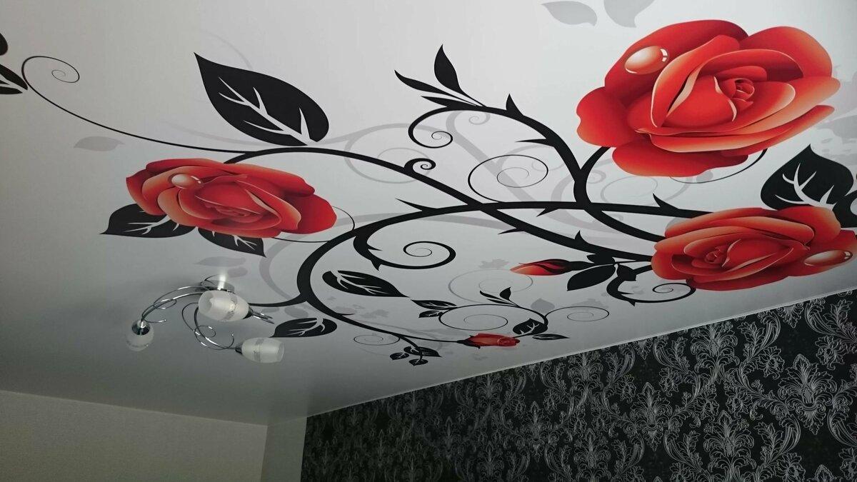 Цена натяжного потолка с рисунком калининград
