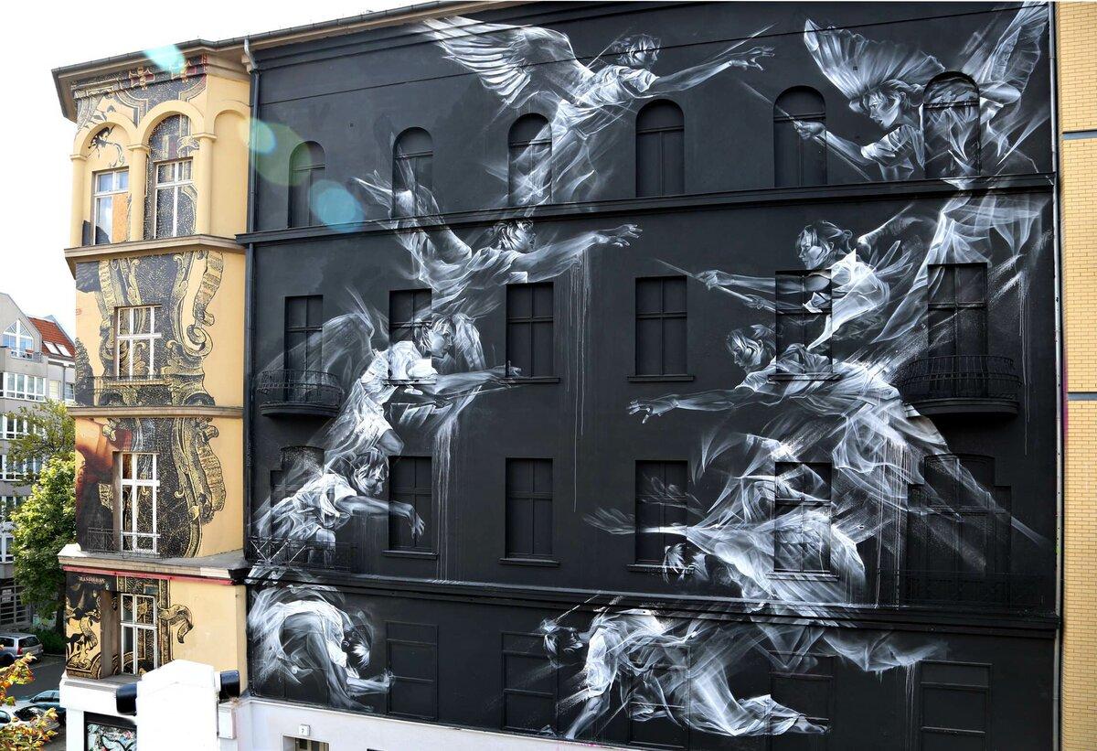 Красивые картинки на стенах домов