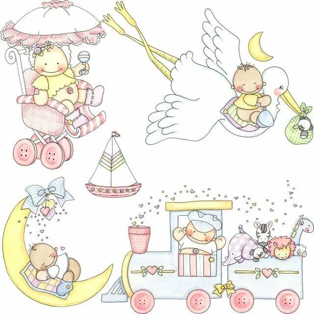 Картинки для фотоальбома новорожденного