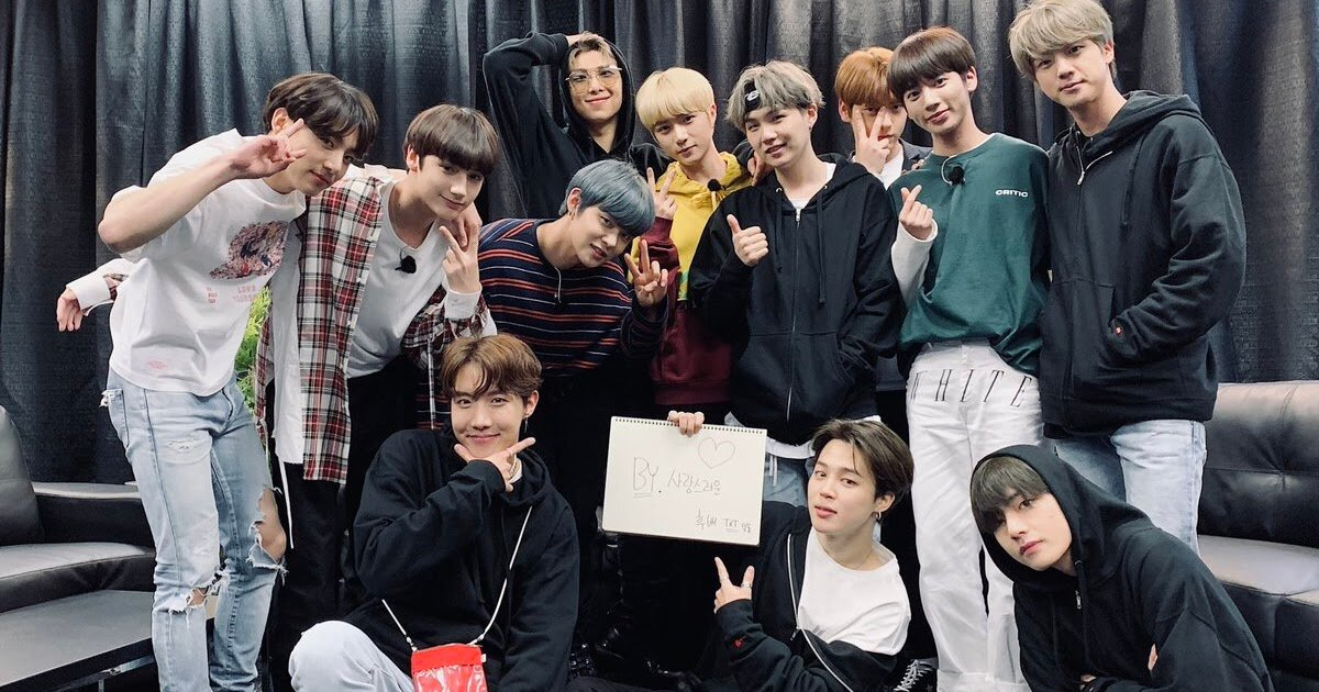 "BTS and TXT show their closeness when meeting in Chicago "" K"