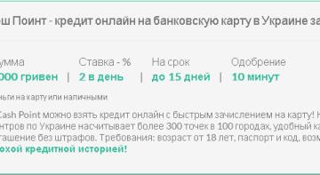Кредит онлайн на банковскую карту украина без отказа