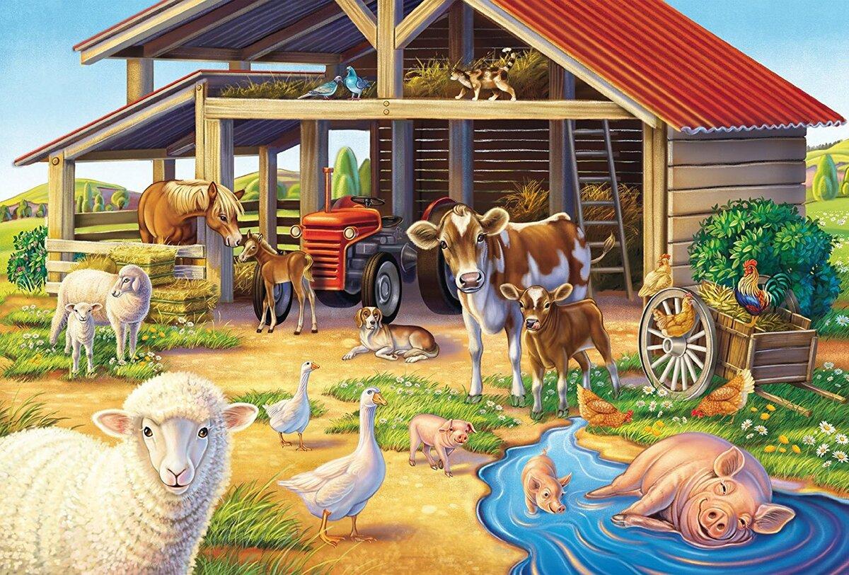 Открытка моя ферма, марта своими