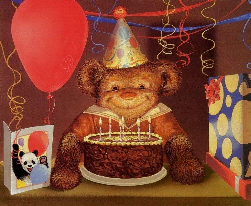с днем рождения картинки с медвежатами знаю