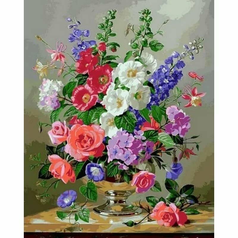 Картина с цветами открытки