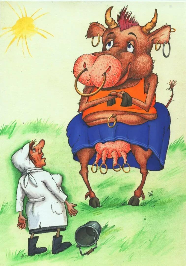 коровы картинки карикатуры очень понравилось