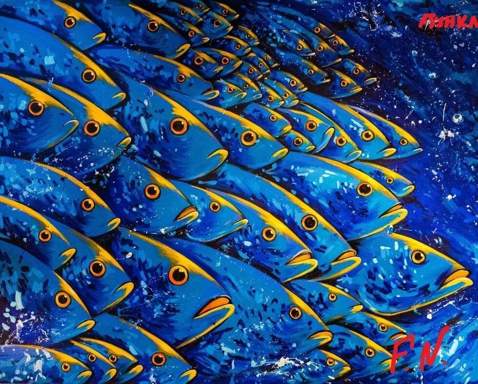 рыбы картинки на обложку виноград