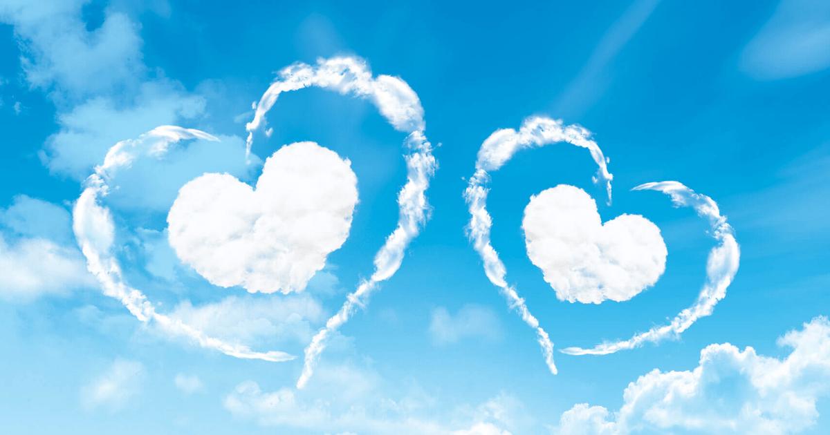 Картинки сердце в небе для любимого