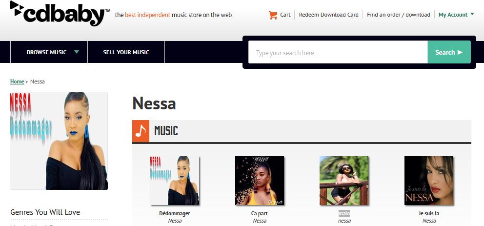 CD Baby Music Store presente: Nessa Album & Single S1200