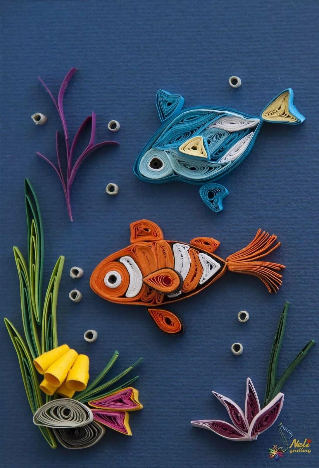 Открытка рыбка своими руками, подруге лет