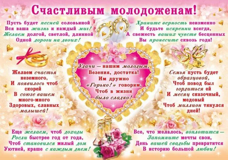 мы желаем счастья вам поздравление на свадьбу