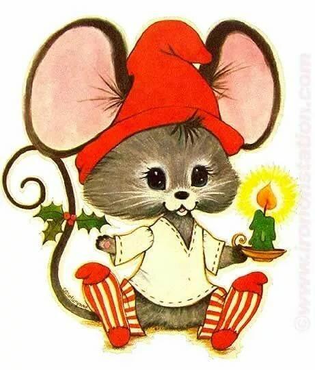 Трафареты крысы или мыши для вырезания на окна к новому году