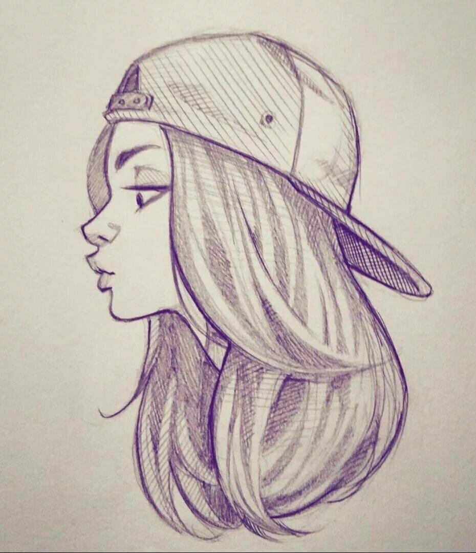 Рисунки для девочек 14 лет простым карандашом прикольные легкие