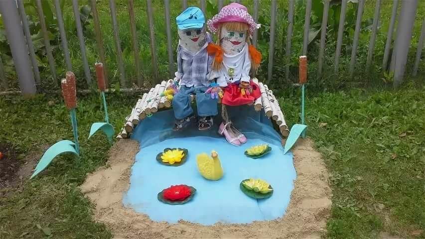 Оформление участка в детских садах с картинками