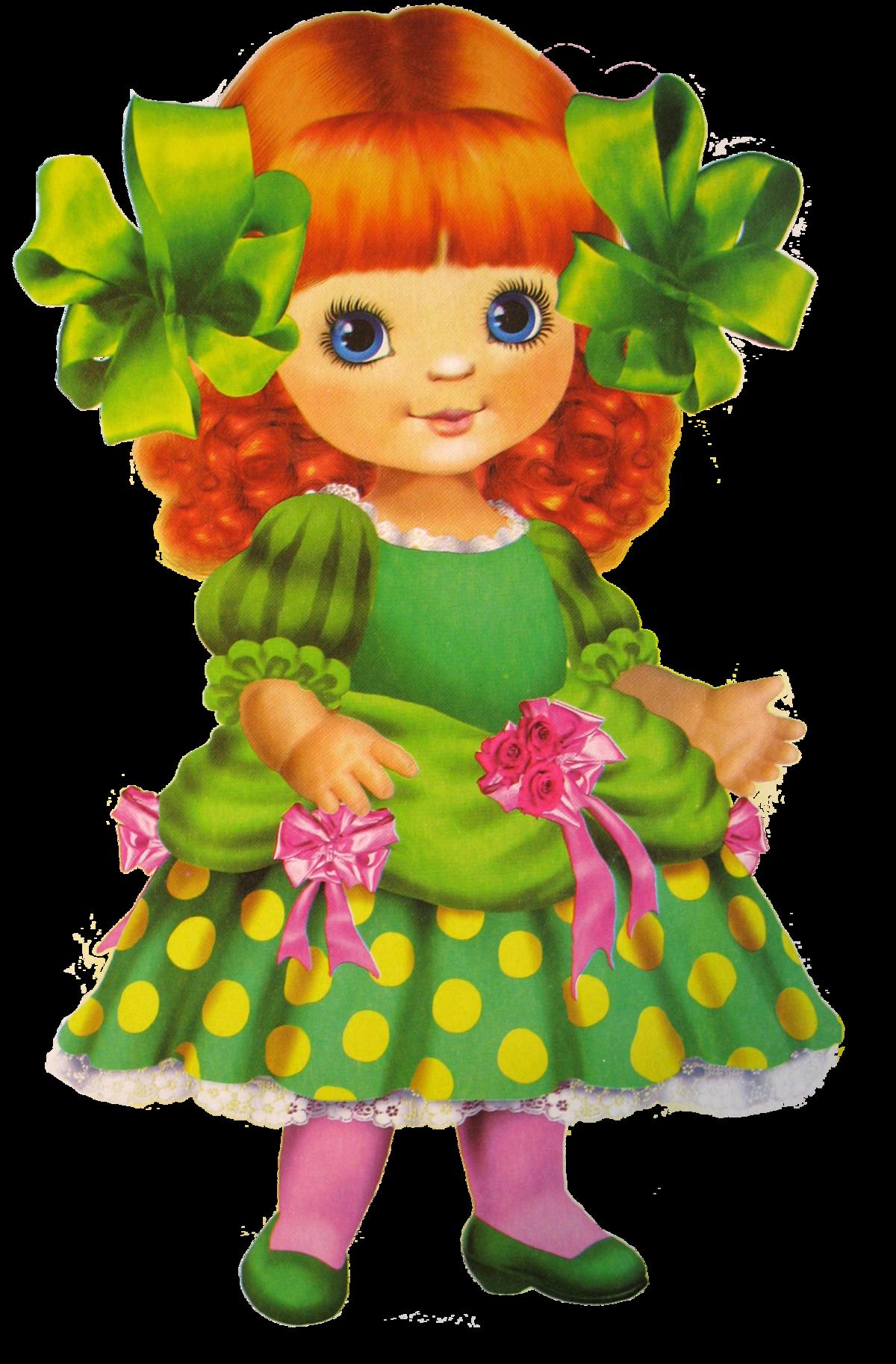 Картинка для детей нарисованная кукла