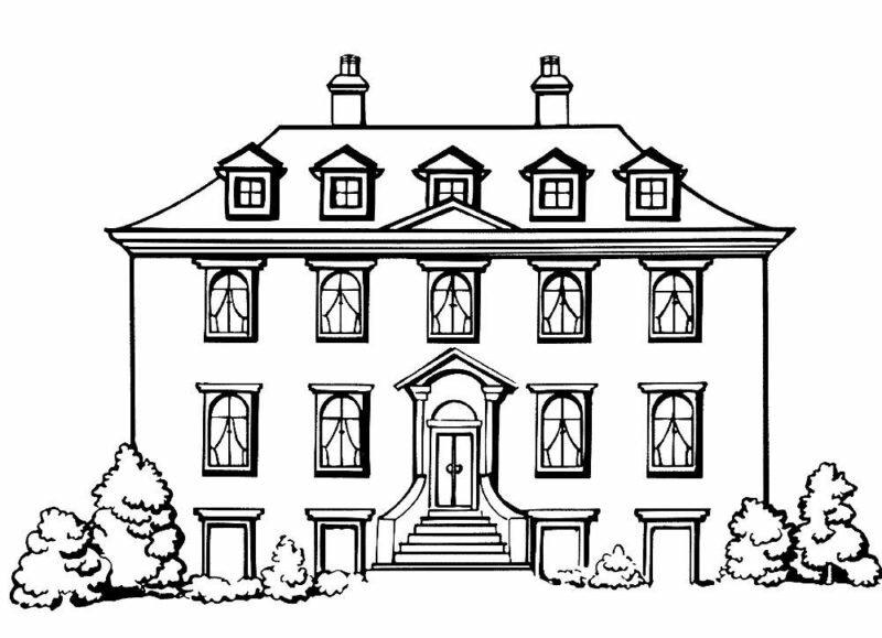 девушек картинки рисунки дома черно белые рисунок декупажной карты