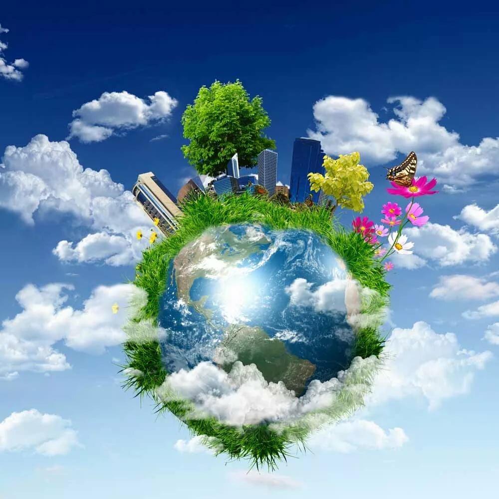 картинки планета чистый дом