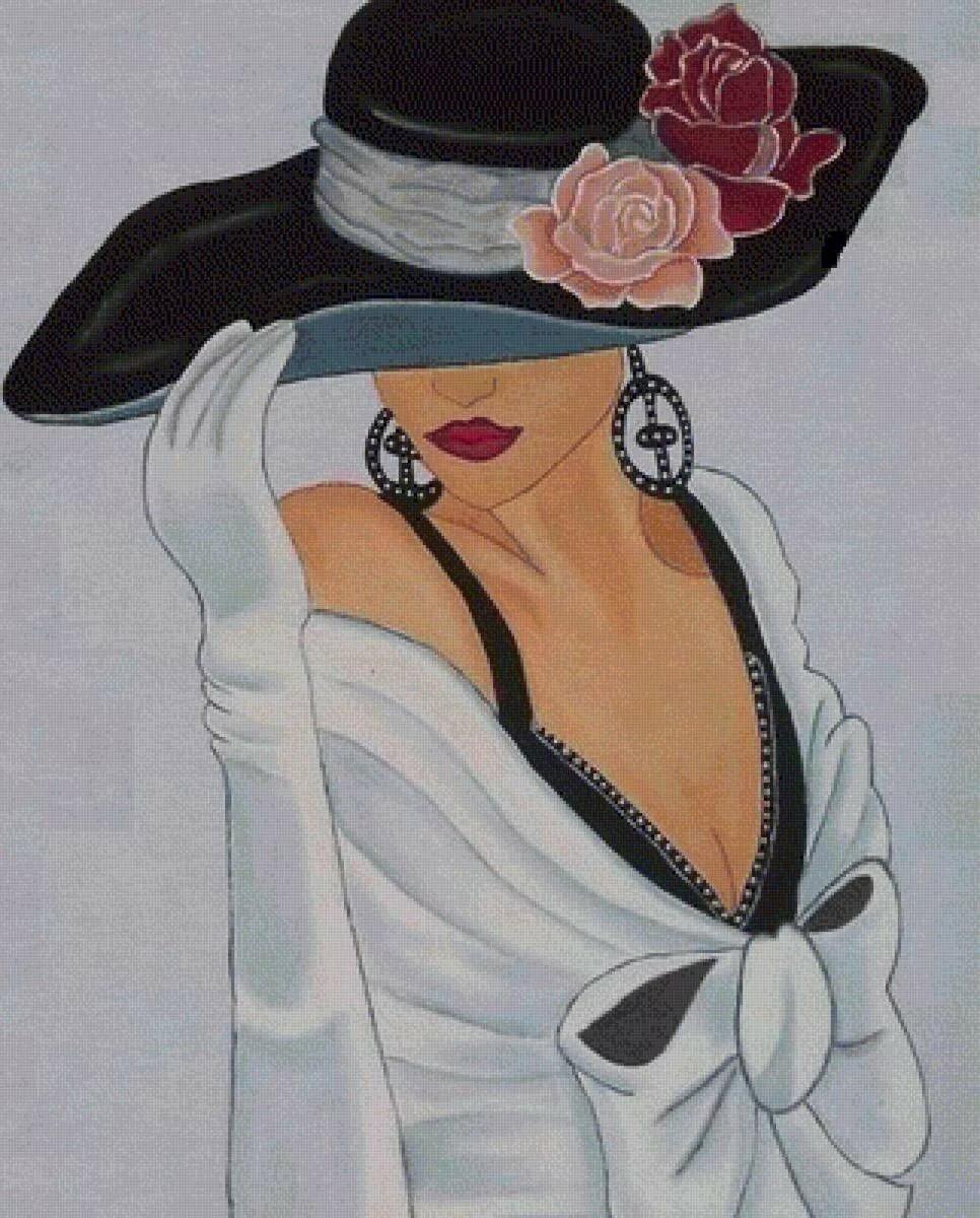 Жара невыносимая, картинки женщины в шляпах рисунки