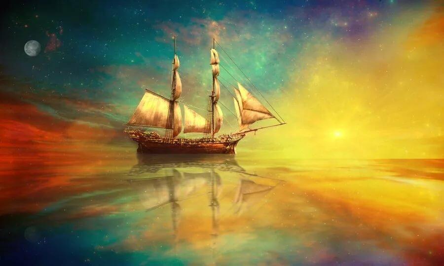 картинки корабля солнце красивые