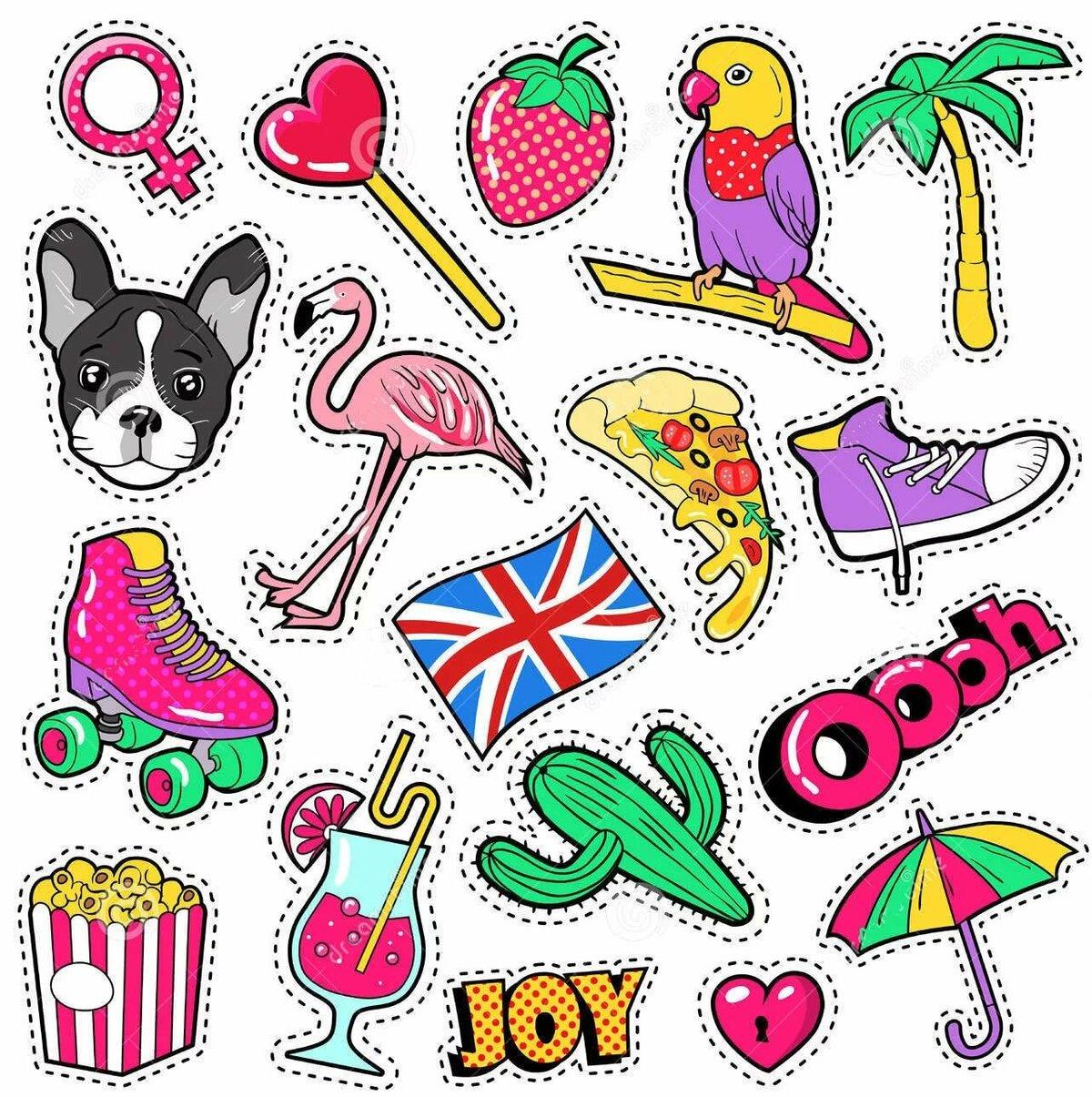 Прикольные картинки для наклеек срисовки для девочек, днем рождения