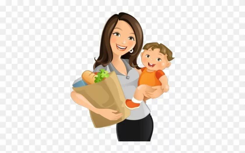 Картинка мама с ребенком на руках для детей, приколы