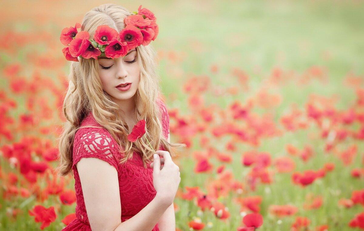 Картинки с красивыми девушками в цветах