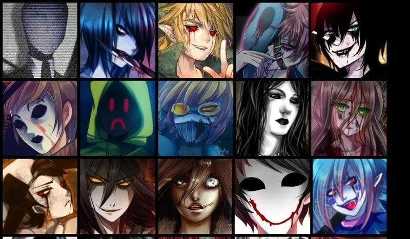 тем, она персонажи крипипасты и их имена рыхлые