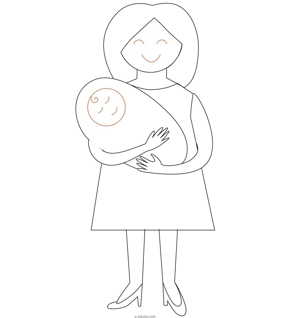 Рисовать рисунки для мамы
