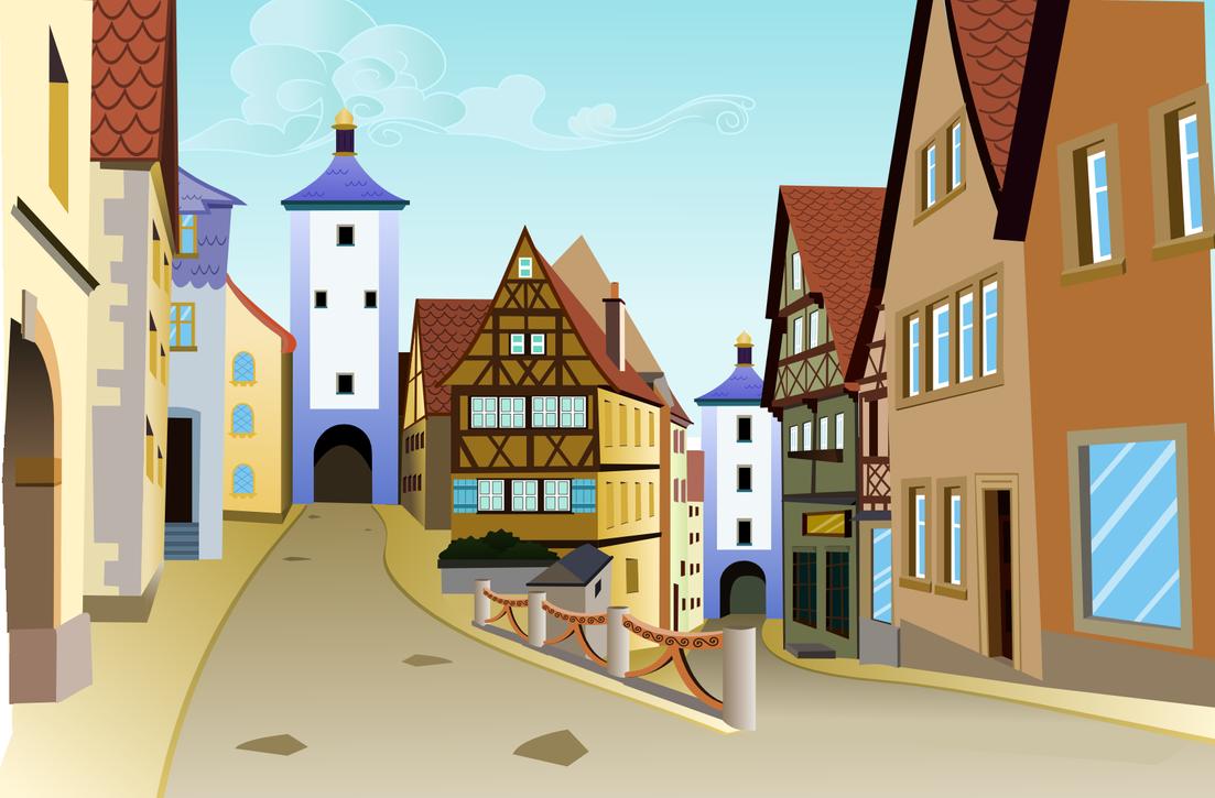 картинка домик с улицами юлии