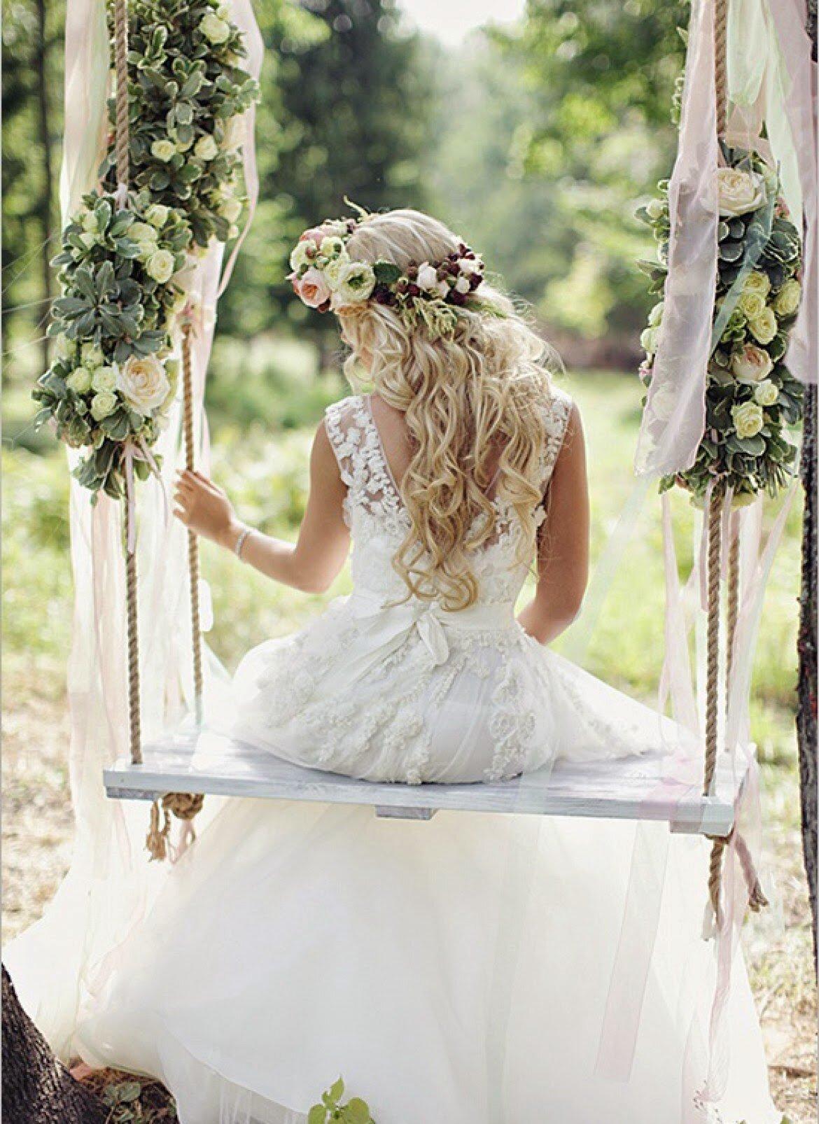 Картинки свадебных качелей