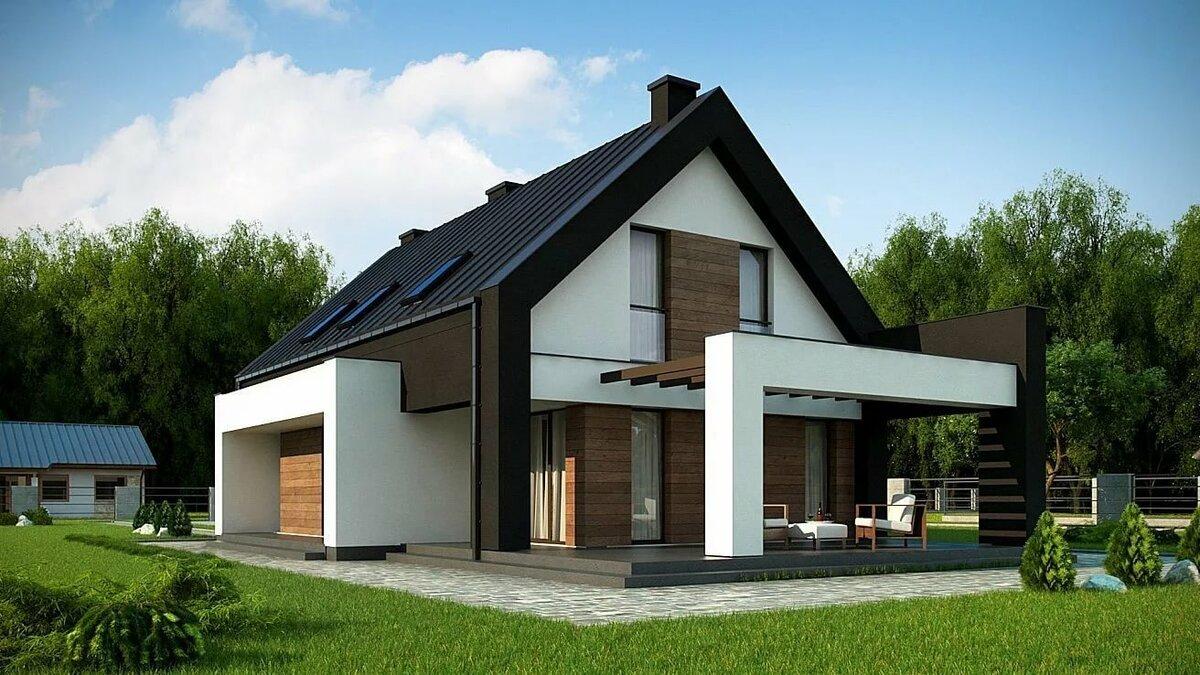 двухэтажные дома со скошенной крышей проекты фото уайлд пышногрудая