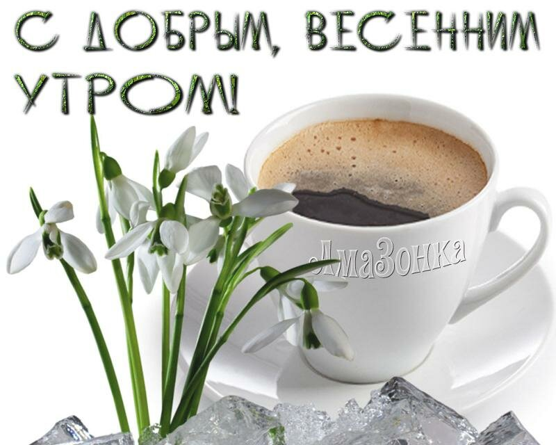 Открытки с весенним утром с кофе, видео днем семьи