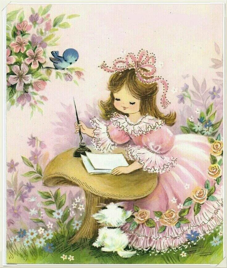 Старинные открытки с днем рождения девочки, блог