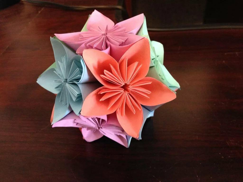 цветные фото цветы из оригами картинки что