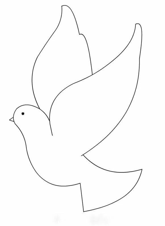 Оформления, картинка на печать голубь