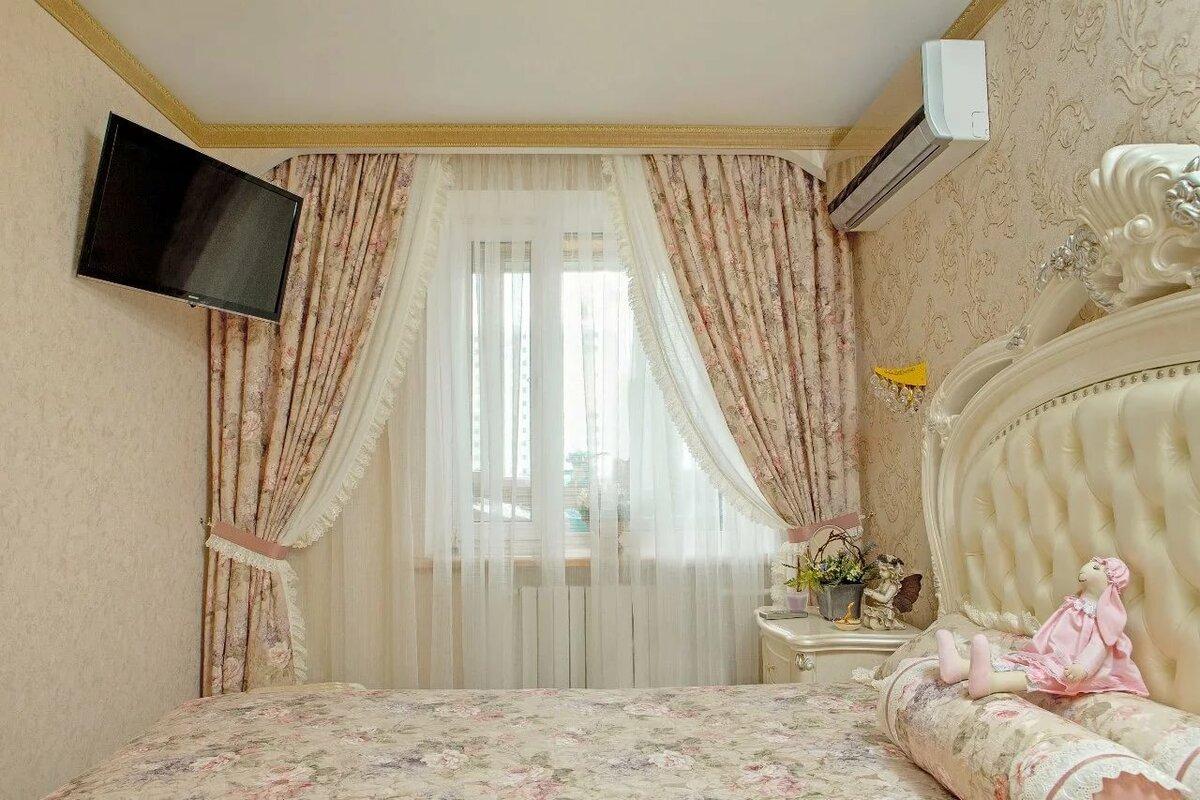 спроектирован как оформить окно в спальне шторами фото может сыграть любовную