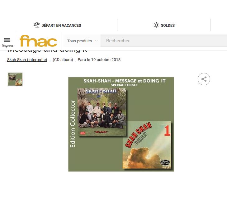 fnac presente : Skah-Shah - Message + Doing it S1200