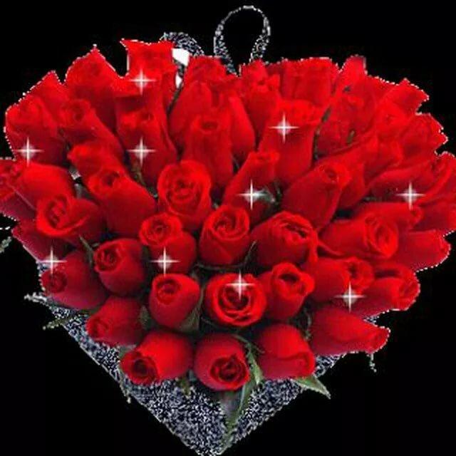 Подарок, гифы самый красивый букет роз для любимой женщины