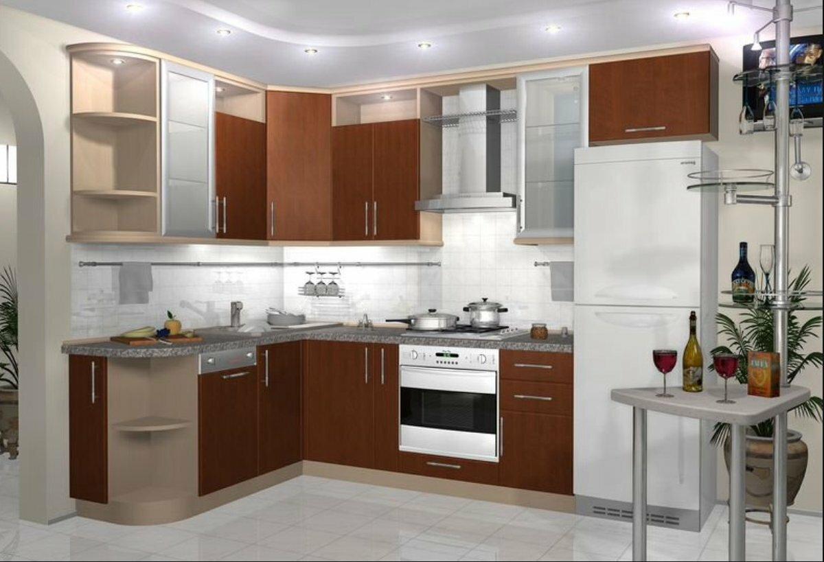 они фото образцов угловых кухонь белого