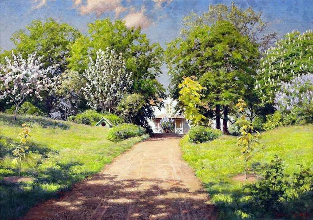 Картинка деревенский сад