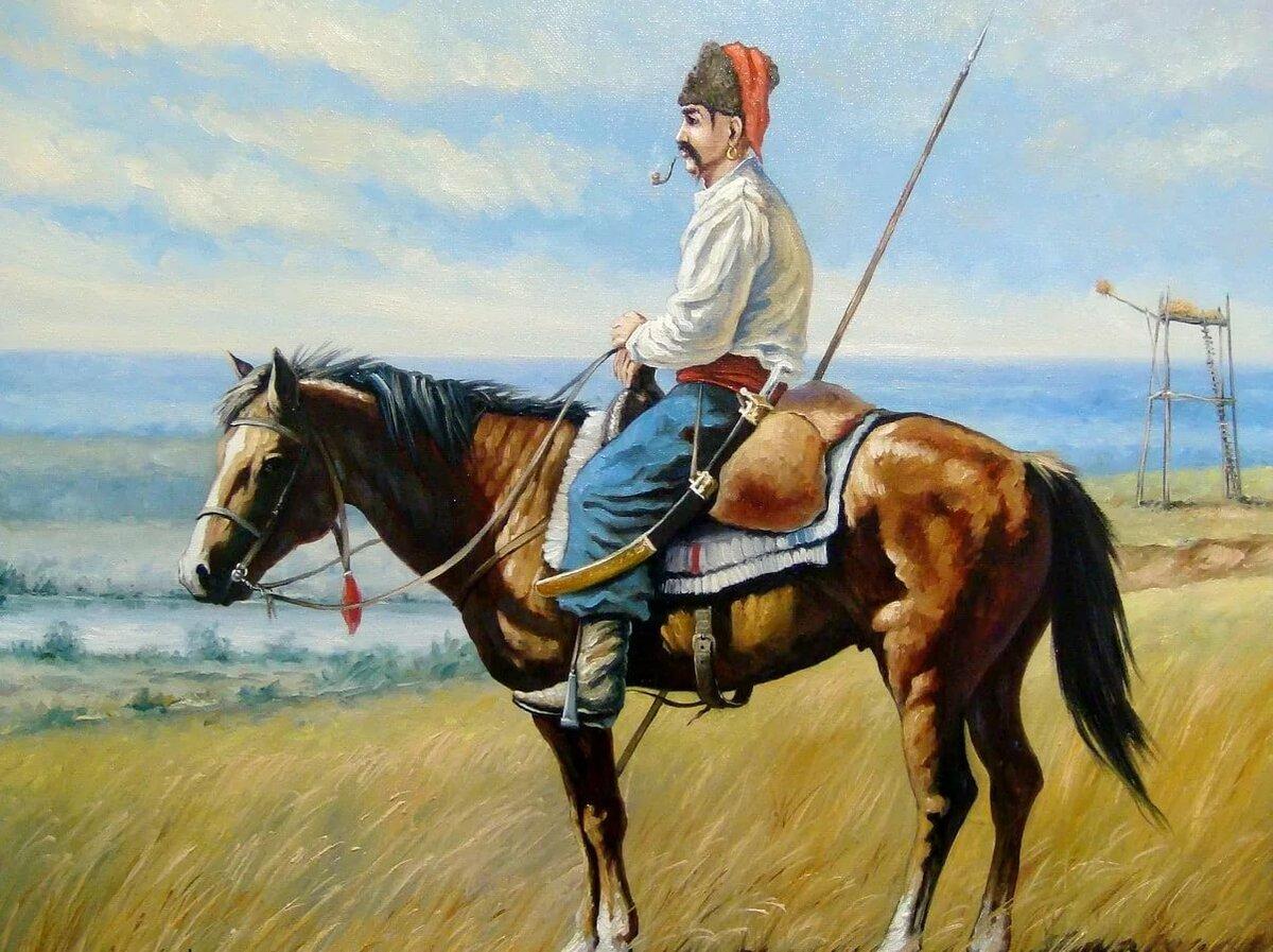 Картинка казаки на лошадях