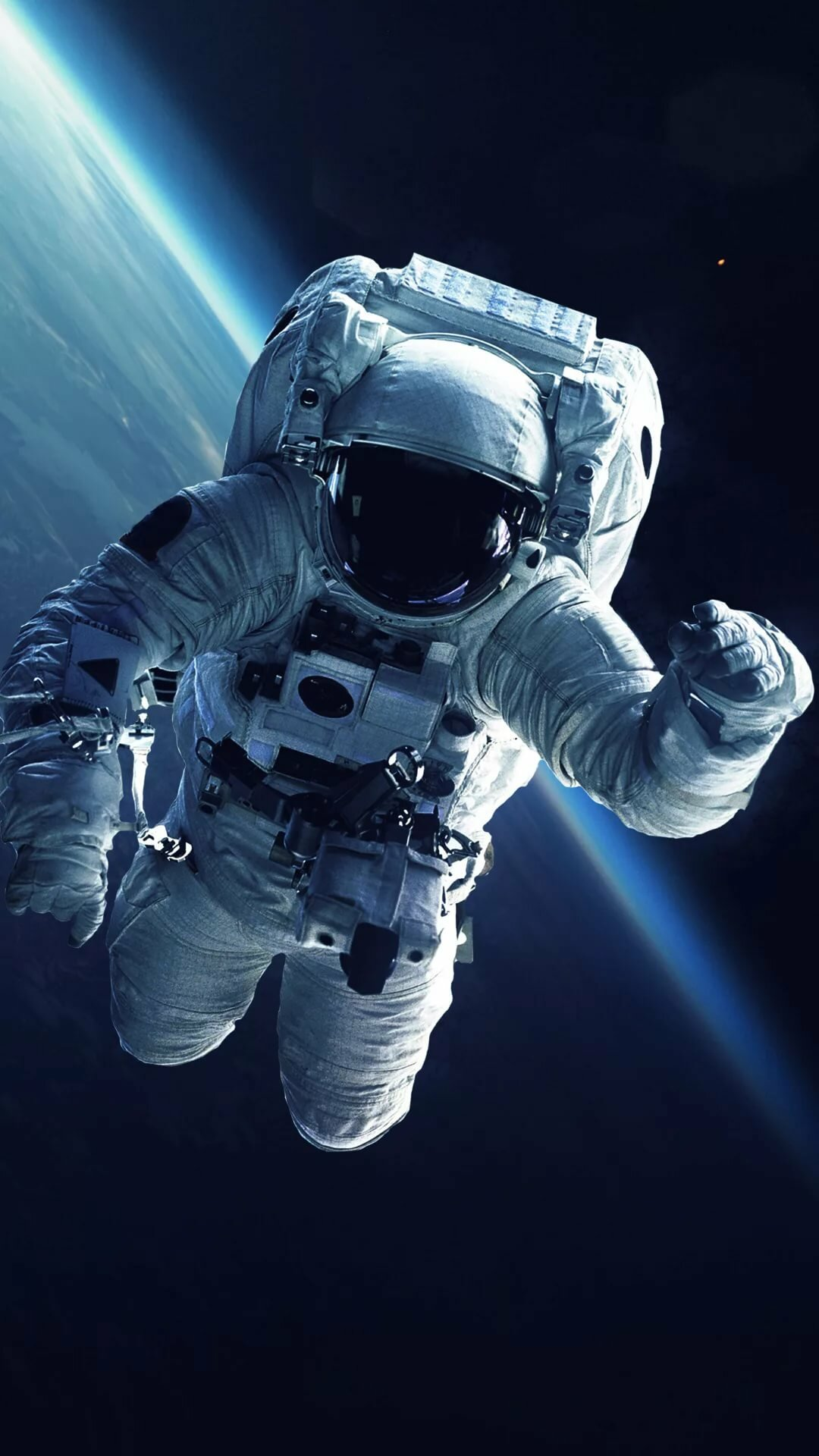 astronaut chilling in space - 736×1308