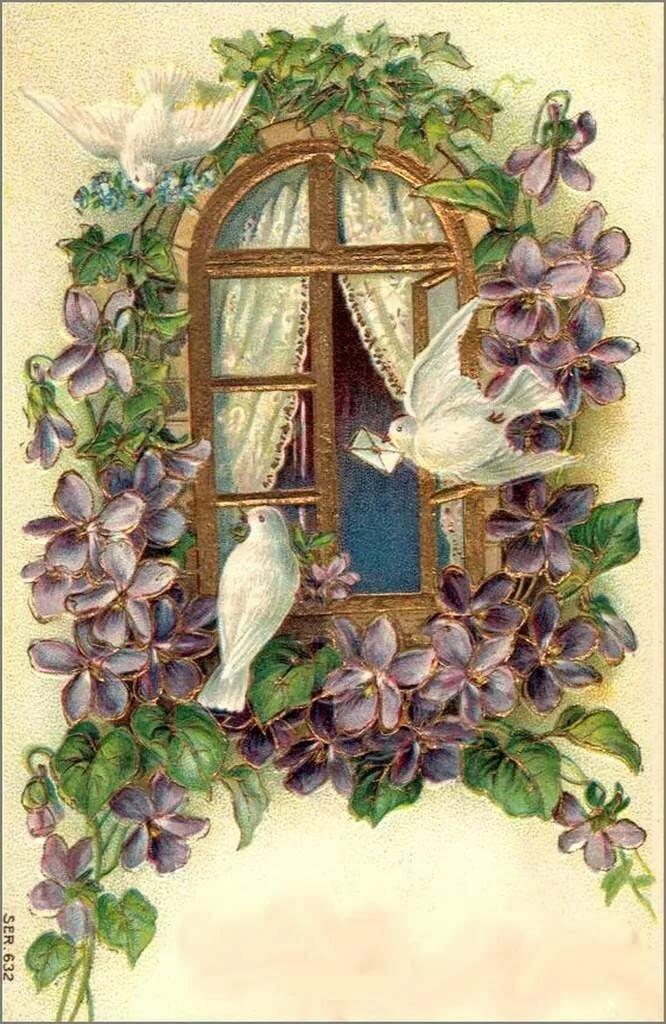 С днем рождения винтажные открытки женщине, розами