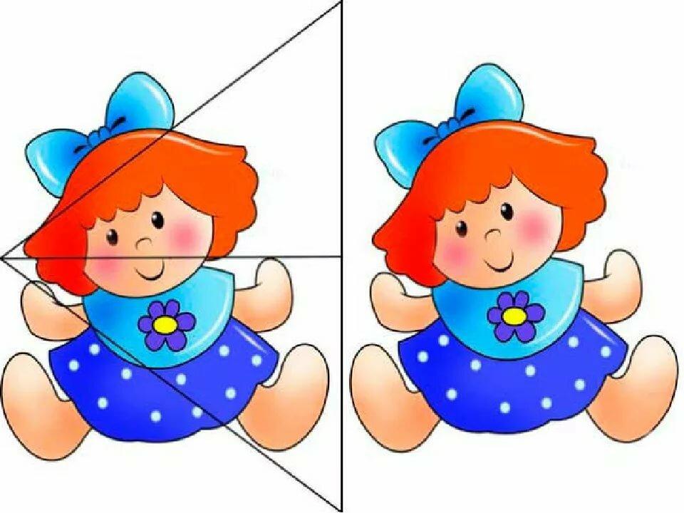 Днем, собери картинку из частей для детей 6-7 лет