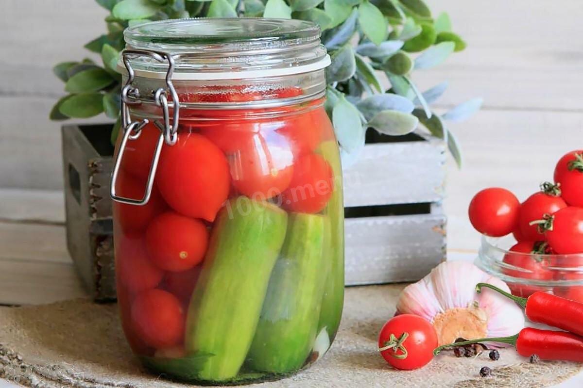 Маринованные помидоры с огурцами картинки