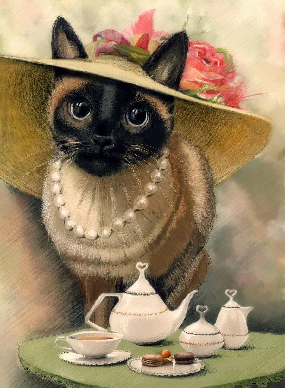Картинки для декупажа смешные кошки