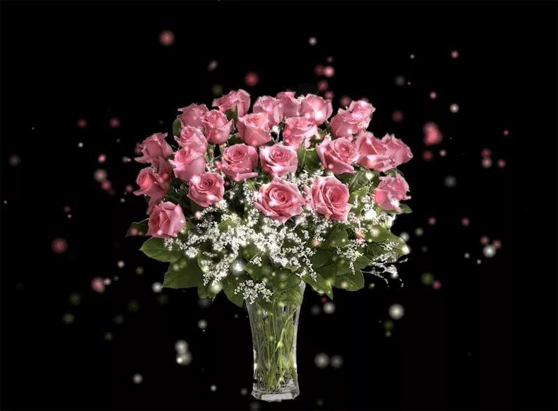 Красивые картинки с цветами гифки, открытки брату сестры