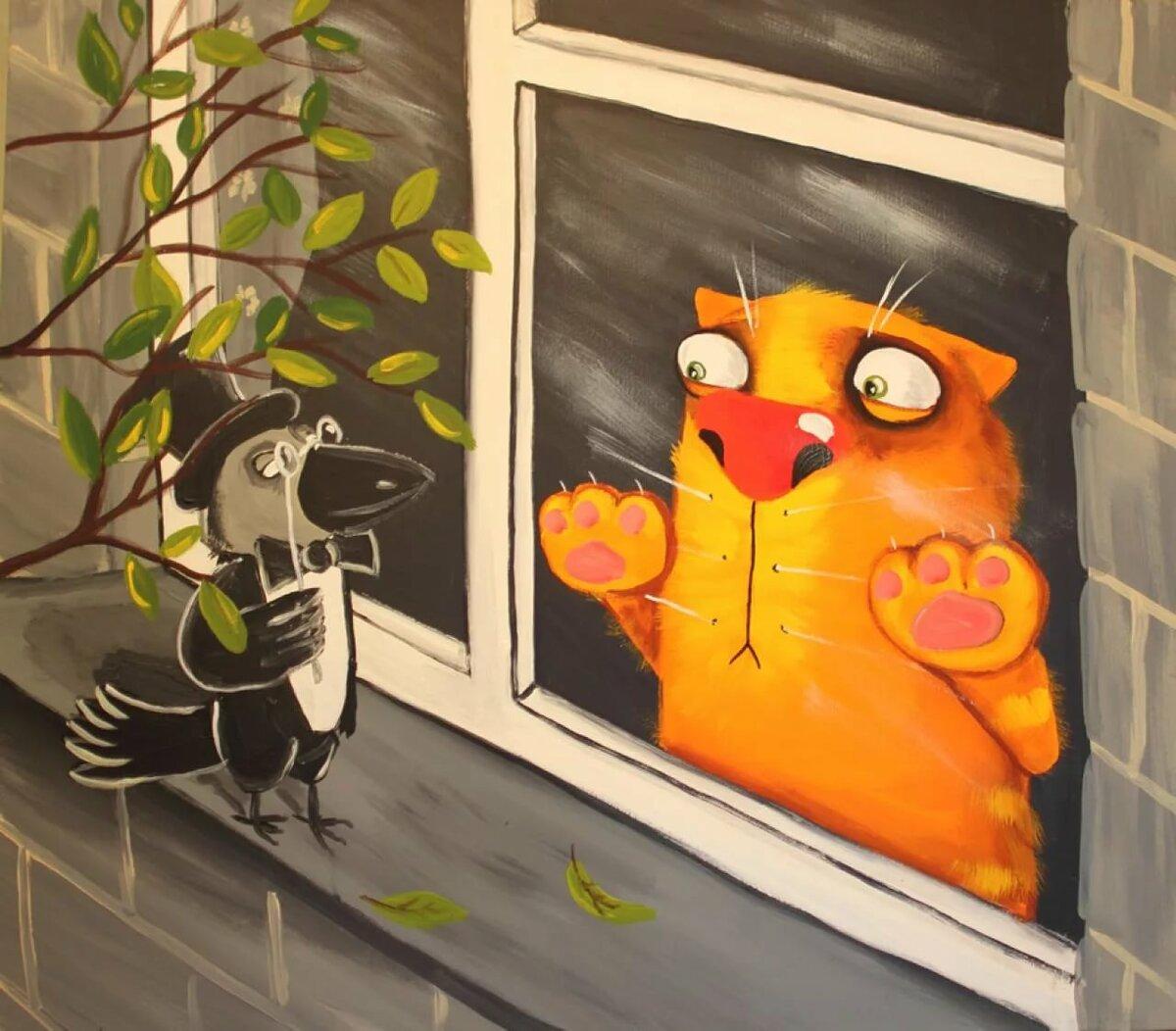 Карандаши веселые, картинки про котов васи ложкина