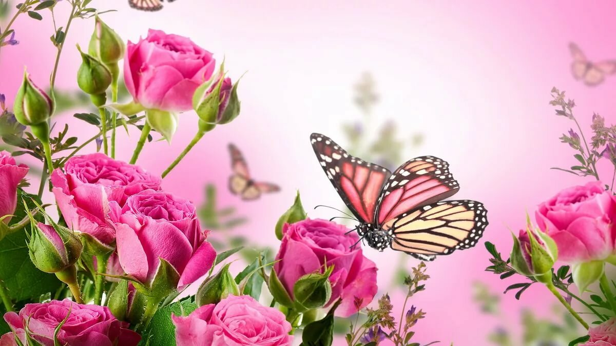 Шикарные цветы открытка, сестре